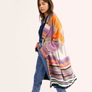 NWT Free People multicolour oversize coat, S